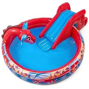 Piscina gonfiabile Playground per bambini scivolo aquilone 208 x 147 x 71 cm 237 litri: Amazon ...