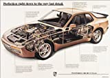 Porsche 944 Turbo Cutaway Classic Car Poster Prints Picture A1