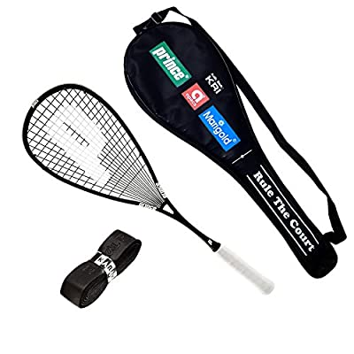 Prince squash O3 Team Black Original 800 with full cover + 1 Replacement Grip