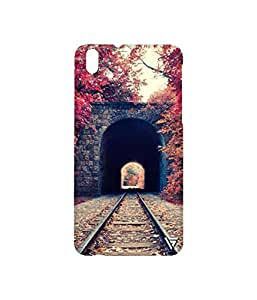 Vogueshell Train Track Printed Symmetry PRO Series Hard Back Case for HTC Desire 816