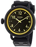 Nixon Unisex-Armbanduhr The October Matte Black / Orange Tin...