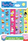 Childrens Kids Peppa Pig 5 x Sheets Sticker Fun Party Loot Bag Fillers Reusable