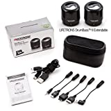NEW Genuine Lifetrons DrumBass II Portable Stereo Speakers For iPod iPhone Ipad & MP3 Players - FG-8008STA-T-D1 (BLACK)