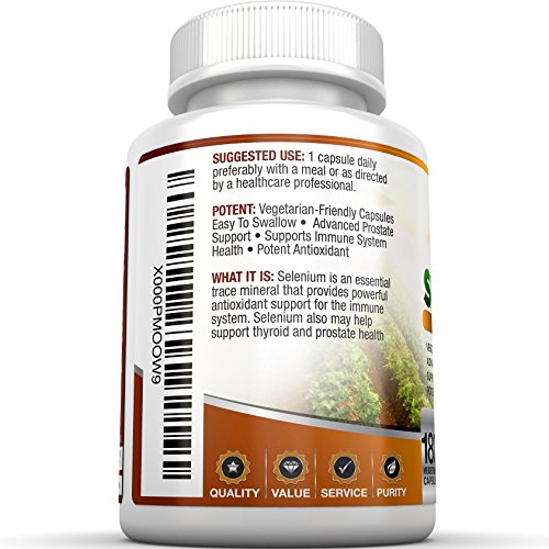 BRI-Nutrition-Selenium-180ct-200mcg-Vegetable-Formula-Essential-Trace-Mineral-to-Support-Thyroid-Prostate-and-Heart-Health-Yeast-Free-Made-in-the-USA