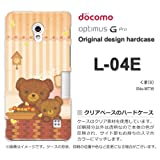 docomo Optimus G Pro L-04E ケース Optimus G Pro L-04E カバー ケース・ジャケット【くま(B)/l04e-M736】