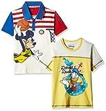 Kidsville Boys' T-Shirt (MF1TB01_Multicolor_5 - 6 years)(Combo T-shirt's-2)