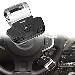 E-Bro Steering Wheel Handsfree Car Kit Wireless Bluetooth Speaker for Dual Mobile Phone iPhone 6S