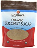 Madhava Organic Coconut Palm Sugar 16-Ounce (Pack of 6)