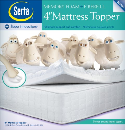 Cheap Serta 4-Inch Memory Foam Mattress Topper - MattressStore