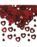 15g red heart confetti table wedding