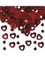 15g coeur rouge de mariage de table confetti