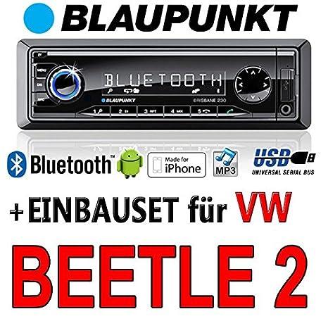 BLAUPUNKT-vW beetle brisbane 230/mP3/uSB avec kit de montage autoradio avec bluetooth
