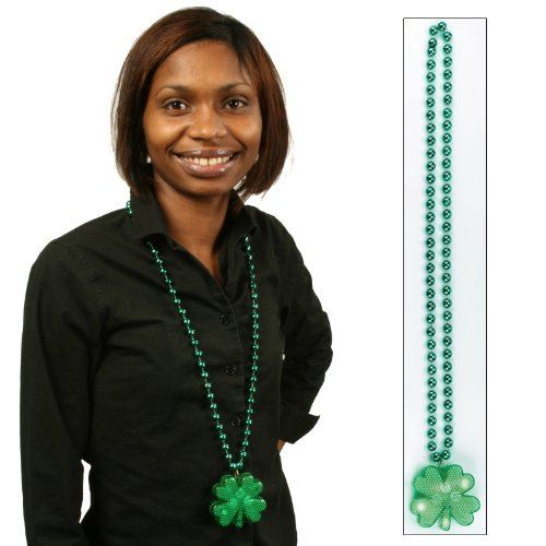 Light Up Shamrock Bead Necklace