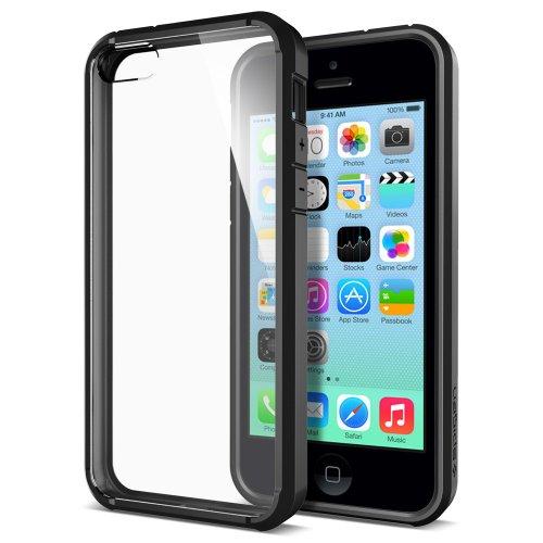 国内正規品 SPIGEN SGP iphone5c ケース Ultra Hybrid Black [ハイブリッド・ブラック] SGP10556