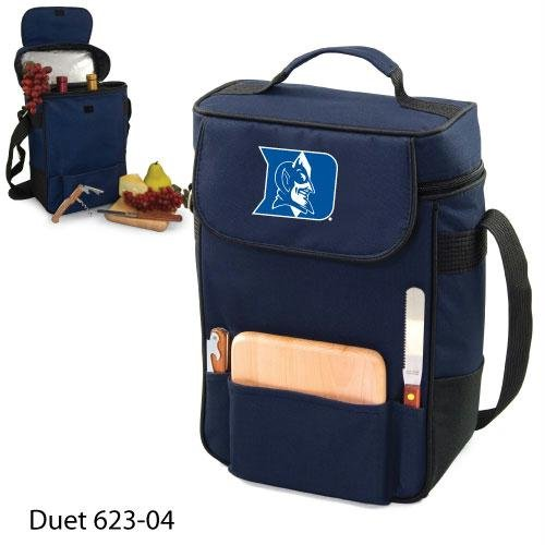 Duke Blue Devils Duet Insulated Wine and Cheese Tote - Navy w/Digital Print at Amazon.com