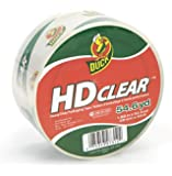 Duck Brand HD Clear High Performance Packaging Tape, 1.88-Inch x 54.6-Yard Roll, Crystal Clear, Single Roll (297438)