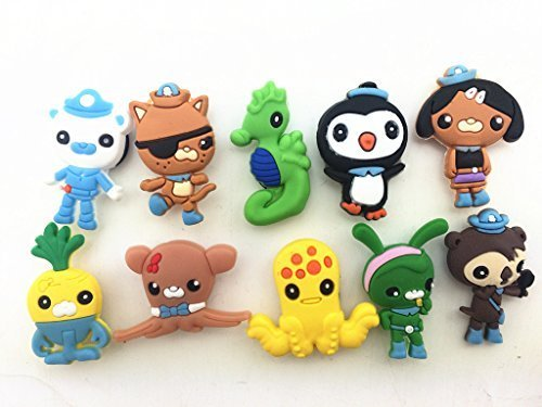 Cheapest Price! 10 the Octonauts Shoe Charms for Croc Shoes & Wristband Bracelet