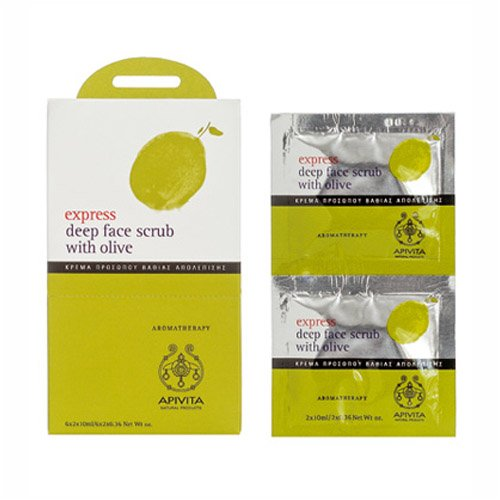Apivita Express Deep Face Scrub with Olive  12 Sachets