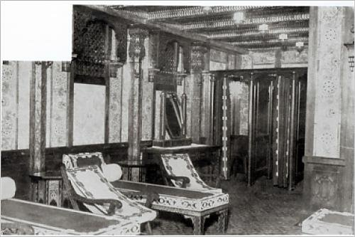 Photographic Print of The Turkish Bath Cooling Room on board the Titanic