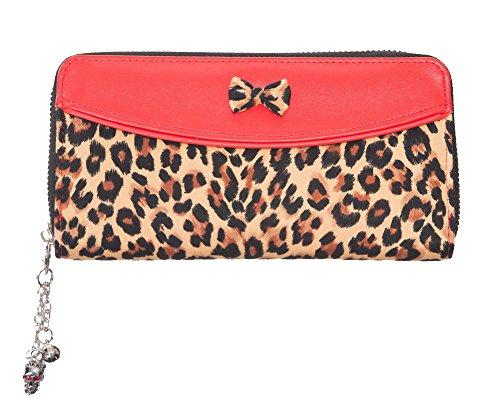 Portafogli Tiffany Leopard Print Banned (Rosso)