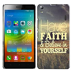 Theskinmantra Have faith and believe in yourself back cover for Lenovo A7000
