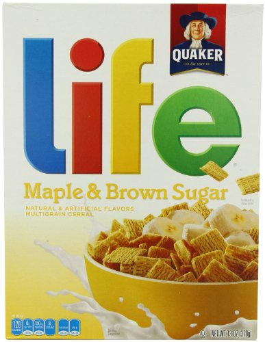 Life Cereal, Maple and Brown Sugar, 13-Ounce (Pack of 4)