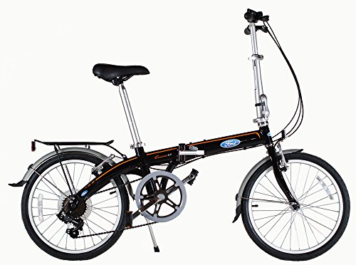 Ford by Dahon Convertible 7 Speed Folding Bicycle, Black