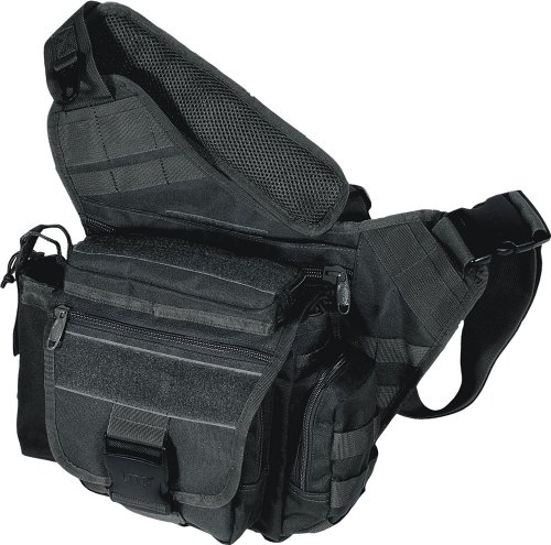 UTG Multi-Functional Tactical Messenger Bag, Black at Amazon.com