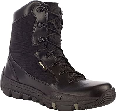 """Rocky Men's 8"""" Athletic Mobility GORE-TEX®WP Side-Zip Duty Boot-0143 (M8.5)"""
