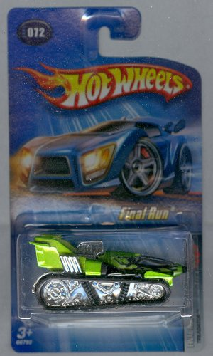 Hot Wheels 2005-072 Final Run Treadator GREEN 1:64 Scale - 1