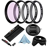High Quality K&F Concept 52mm UV CPL FLD ND4 Filter Set For Nikon D3100 D3200 D5100 D5200 Lens Hood Pen