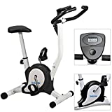 Acelectronic Vélo d'appartement, vélo d'exercice , Noir / Rouge / Violet (Noir)