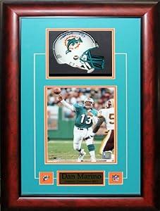 Dan Marino Miami Dolphins Signed Mini Helmet Frame by Midway Memorabilia
