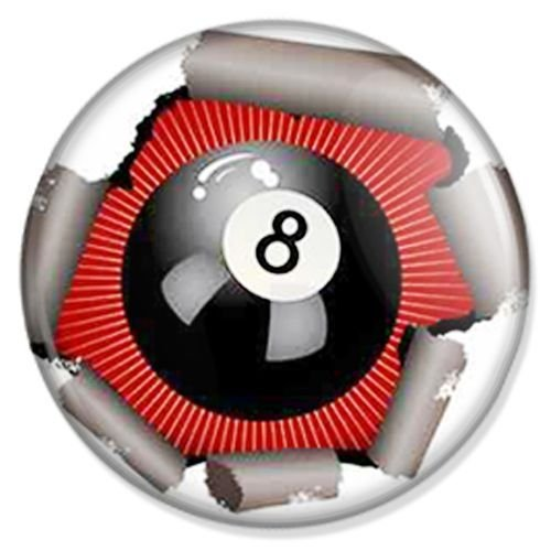 Button Billard 8 Ball - Sport Badge, Sport Pin, Sport Anstecker, Sport Button, Sport Ansteckpin