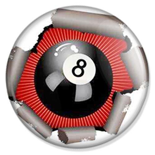 Button Billard 8 Ball - Sport Badge, Sport Pin, Sport Anstecker, Sport Button, Sport Ansteckpin