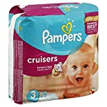 Pampers Cruisers Diapers, Size 3 (16-28 lb), Sesame Street, 28 diapers