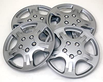 TuningPros WSC-051S14 Hubcaps Wheel Skin Cover 14-Inches Silver Set of 4