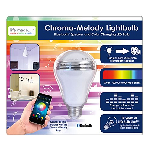 Life Made Chroma-Melody Bluetooth Speaker Color Changing Lightbulb (Fashion Lightbulbs compare prices)