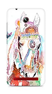 Amez designer printed 3d premium high quality back case cover for Asus Zenfone Go ZC500TG (Horse White)