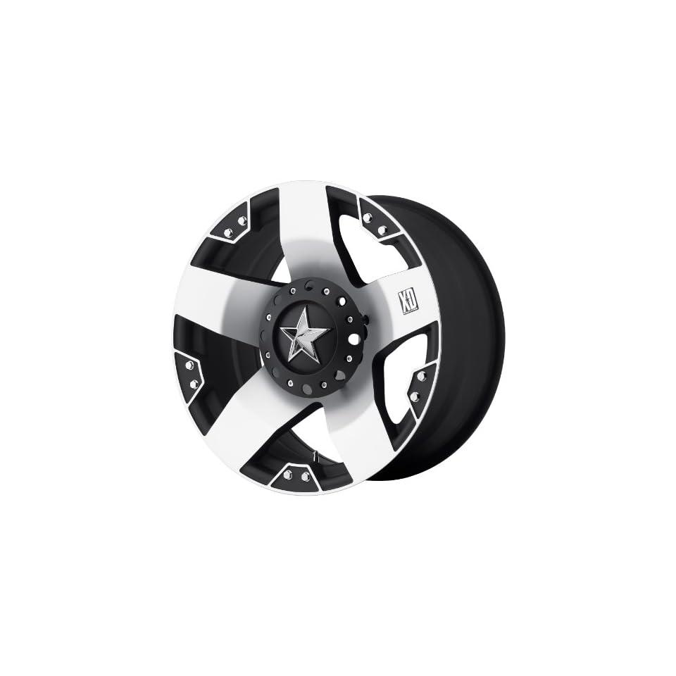 20x10 KMC XD Rockstar (Matte Black w/ Machined Face) Wheels/Rims 5x139.7/150 (XD77521086524)