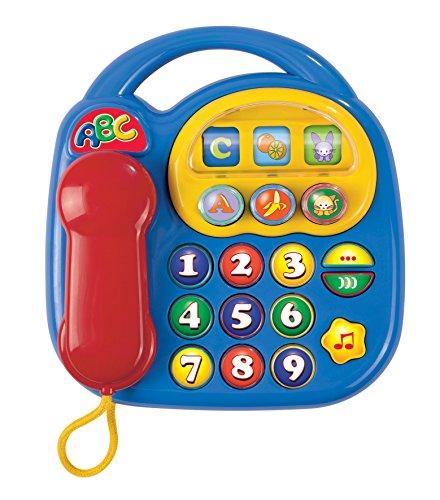 Simba 104012412 - Teléfono ABC con sonido (piezas giratorias, 20 x 20 cm) [Importado de Alemania]