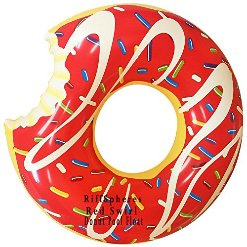 Riffspheres giant donut inflatable pool float lounger 51 for Pool floats design raises questions