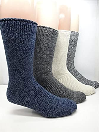 Men's Heavy Duty -35 Below Thermal Wool Socks (2 Pairs) (Lt. Grey)