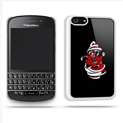 Geisha Swirl Oriental Case Shell Cover Phone Case Shell For Blackberry Q10 - White