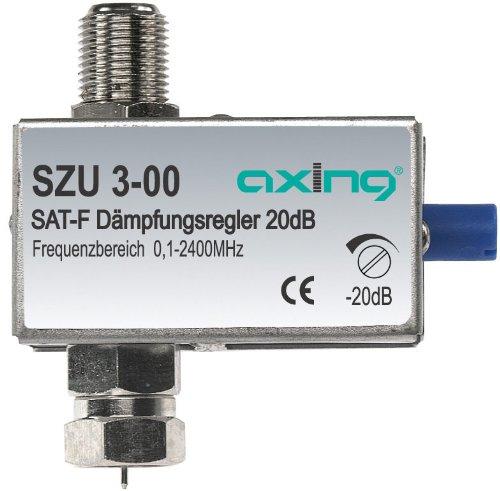 Axing SZU 3-00 atténuateur de signal satellite et terrestre avec F-connecteurs 20 dB réglable