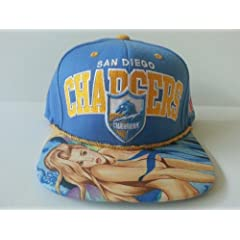 Mitchell and Ness NFL San Diego Chargers Custom Snapback Cap: Chargers by Mitchell & Ness