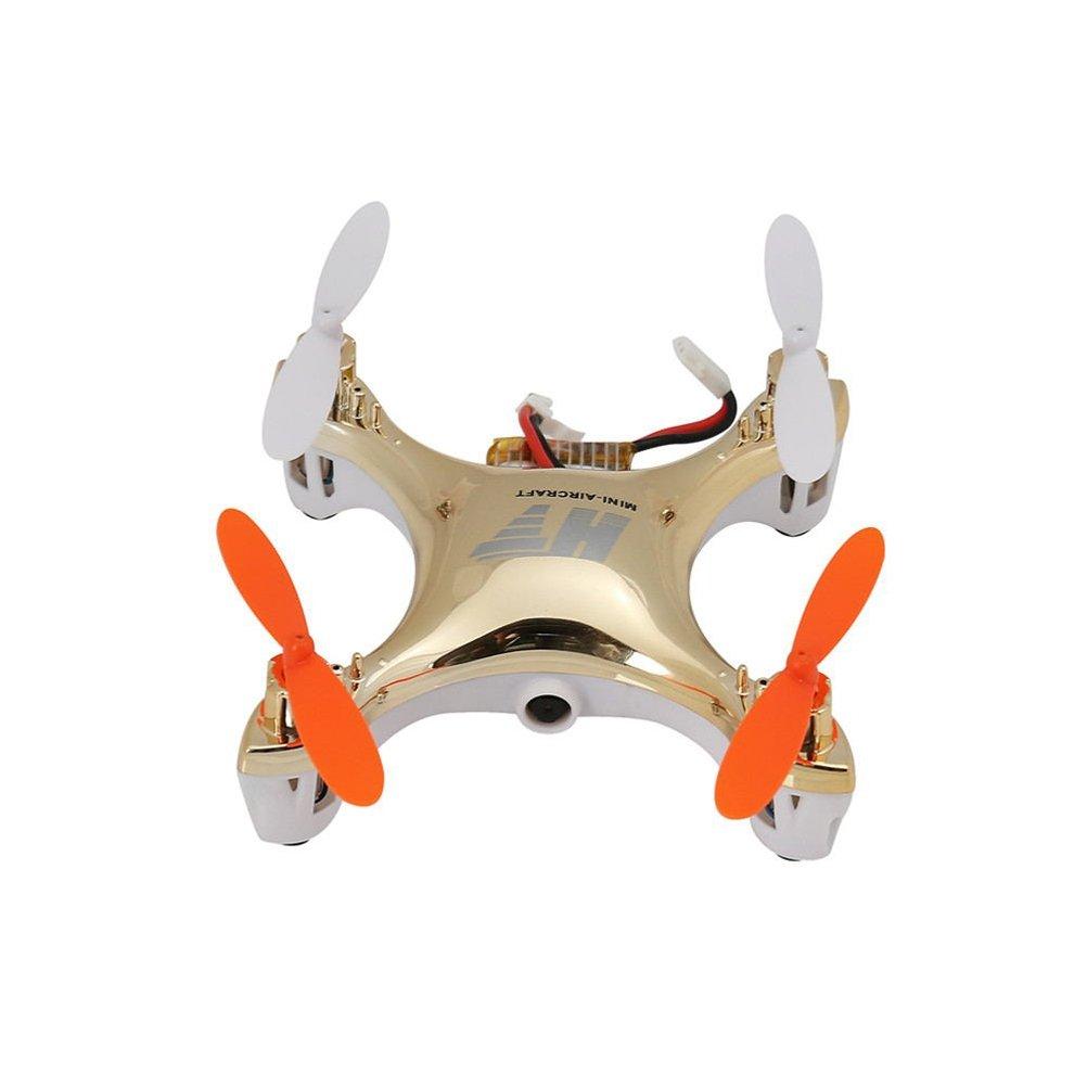 LEORX 2.4 GHz 4CH giroscopio a 6 assi eversione di 360 gradi senza testa modalità Mini RC Quadcopter Drone UFO con telecamera LED luci (Golden) платье alina assi alina assi mp002xw1ajj1