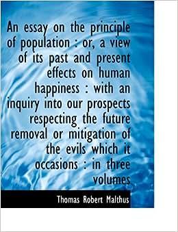 Thomas Robert Malthus Population