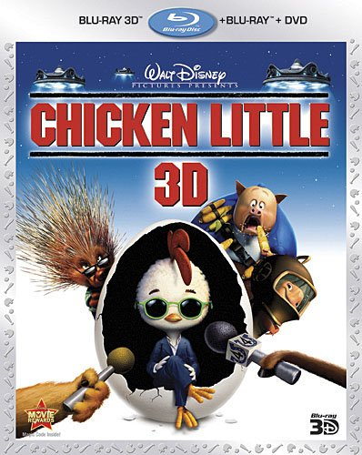 Cover art for  Chicken Little (Three-Disc Combo: Blu-ray 3D/Blu-ray/DVD)