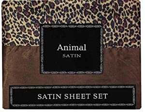 Amazon.com - Animal Print Satin Sheet Sets, Queen Size